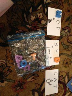 Toddler busy bags - beginning Cvc words