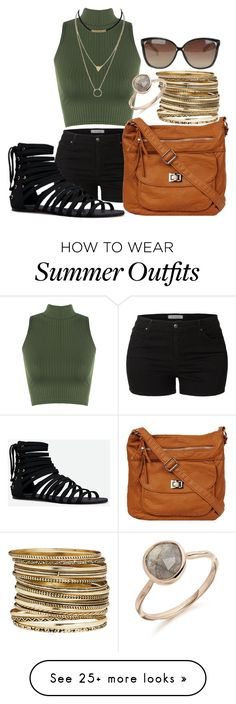"""""""Summer Outfit"""" by fashionfreak4everr on Polyvore featuring LE3NO, WearAll, JustFab, H&M and Linda Farrow"""