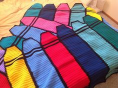Ravelry: Crayon Blanket pattern by Helen Free