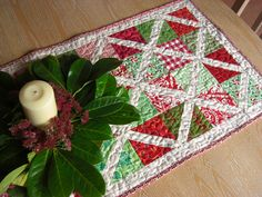 Modern Christmas Tablerunner - Detail | by Laura @ Needles, Pins and Baking Tins