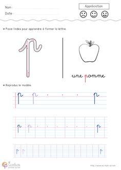 Apprendre à écrire l'alphabet en minuscule à imprimer ...