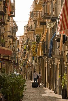 On the streets of Cefalù, Sicily, Italy -  by Janey Kay, via Flickr