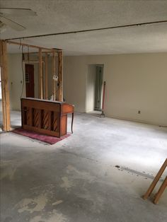 Removal of the wall between the two living rooms.... making one GREAT ROOM