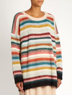 Striped mohair and wool-blend sweater | Chloé | MATCHESFASHION.COM US