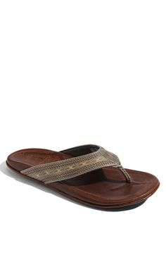 OluKai 'Akua' Flip Flop; because Summertime is beach time.....