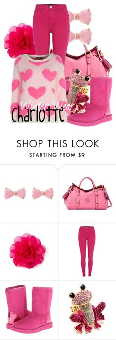 """""""Charlotte"""" by disnerddesigns ❤ liked on Polyvore featuring Betsey Johnson, Dooney & Bourke, River Island and UGG Australia"""