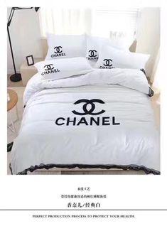 ブランド寝具 Chanelシャネル 寝具 布団カバー4点セット 綿 100% どんす織りの綿布1