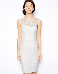 BCBGMAXAZRIA Off White Alice Shift Dress