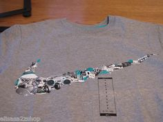 Men's Nike t shirt grey 063 T shirt TEE NEW sport logo basketball 465649 large L