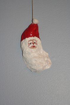 Oyster Shell Santa Ornament