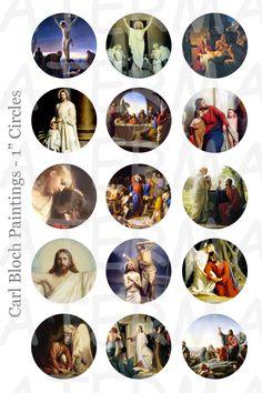 Carl Bloch Gemälde von Jesus 4 x 6 Digital Collage von OldMarket