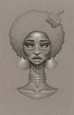 Moondust is a recent illustration project by visual artist Sara Golish inspired by Afrofuturism. The inspiration has [like all my work] come from many varying sources. However, these pieces are he…