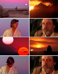Skywalker, still looking to the horizon. Never here, now, hmm? #starwars