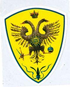 PALIO CONTRADE DI SIENA - Adesivo a forma di scudo AQUILA