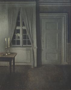 "amare-habeo: "" Vilhelm Hammershøi (Danish, 1864-1916) Interior with two candles, N/D Oil on canvas """