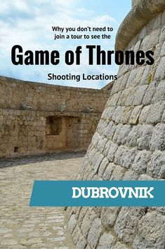 Dubrovnik Game of Thrones style - it's so easy to discover the GoT locations in your own time, no need to join a tour. See here why. Croatia Itinerary, Croatia Travel, Greece Travel, Cool Places To Visit, Places To Travel, Places To Go, Europe Travel Tips, European Travel, Travel Goals