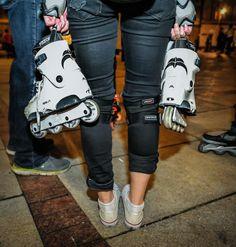Nightskating Warsaw 30.07.2015 - Meghan and the Razors :D #inline #skating #razors #genesys #nightskating #powerblading #blades