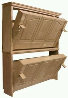 to Build a Side-Fold Murphy Bunk Bed DIY plans for a Murphy bunk bed (side folding)!DIY plans for a Murphy bunk bed (side folding)! Bunk Bed Diy, Murphy Bunk Beds, Bunk Bed Plans, Bunk Beds With Stairs, Murphy Bed Plans, Kids Bunk Beds, Diy Murphy Bed, Camper Bunk Beds, Bunkbeds For Small Room