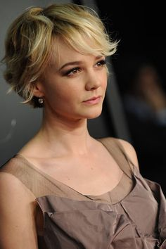 Carey Mulligan Red Carpet Hair And Hairstyles - Pixie Crop (Vogue.com UK)