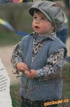 Pletená vesta pro kluky | PLETENÍ – NÁVODY