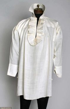 MAN'S LINEN SHIRT, 1790-1810. Up for auction November 13, 2013 in NYC - Augusta Auctions