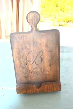 Monogrammed Wooden Kitchen iPad Stand/Holder. $40.00, via Etsy.