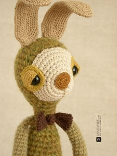 The Bunny with Flexible Ears by eveluche on Etsy