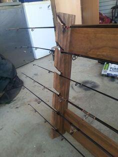Pallet Fishing Rod Holder Pallet Shelves