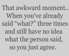 This just creates more awkward moments.... for me, at least... *sigh*