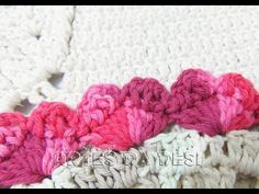 Artes da Desi: Bico / Barrado Corações de Crochê