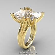 Exquisite, elegant and classy, the new Modern Bridal Yellow Gold Radiant Cut Ct White Sapphire Diamond Fantasy Cocktail Ring is a sight to behold. Vine Wedding Ring, Cz Wedding Bands, Gold Wedding Rings, Sapphire Diamond, White Sapphire, Gold Claddagh Ring, Cubic Zirconia Wedding Rings, Celtic Knot Ring, Dress Rings