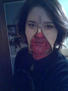 #zipper face # halloween # costume #scary