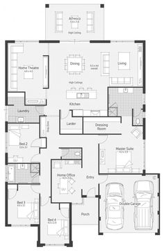 A nice layout! austin 1 floor plans in 2019 проекты домов, New House Plans, Dream House Plans, House Floor Plans, The Plan, How To Plan, Bedroom Layouts, House Layouts, Kings Home, Home Design Floor Plans