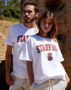 Sport some collegiate vibes on top in the Champion Stanford Tree T-Shirt. This new go-to features a Stanford University graphic on the front and embroidered Champion branding. Champion Brand, Champion Sports, Stanford University, Graphic Tees, Short Sleeves, Man Shop, Mens Tops, T Shirt