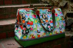 Carpet Bag Reisetasche von machwerk Carpet Bag, Mary Poppins, Needlepoint, Wallets, Sewing Projects, Purses, Pink, Crafts, Bags