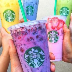The Starbucks Secret Menu has just grown by five. The Pink Drink that started it all has brought forth an army of 5 rainbow drinks that pack a real punch!