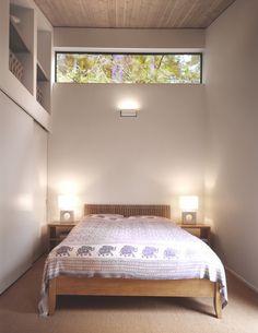 Clearstory bedroom windows