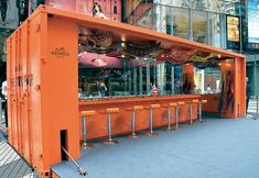 Hermes container pop up shop.