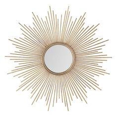 Spiegel aus vergoldetem Metall Magellan - maisonsdumonde
