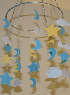 Cute idea for a baby shower theme ... stars and moons ... sleepy baby theme ... we all love a nighttime sleepy baby :)