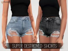 Elliesimple - Super Destroyed Shorts - The Sims 4 Sims Baby, Sims 4 Toddler, Sims 4 Cc Kids Clothing, Sims 4 Mods Clothes, Sims Mods, Sims Cc, The Sims 4 Pc, Sims 4 Gameplay, Sims4 Clothes