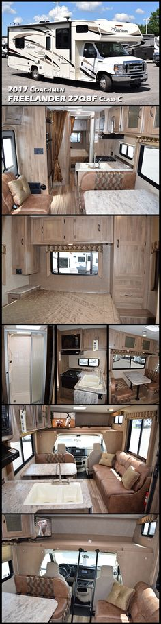 "This 2017 Coachmen FREELANDER 27QBF Class C Motorhome offers you all the ""Good Stuff"" novice RVers quickly appreciate and experienced RVers demand. The Freelander mantra is to provide more factory installed features than anyone else, unparalleled value and reliable design and quality at an affordable price. The Freelander will win you over with its right balance of beauty, function, and value in a quality product that has lead the industry in sales for over a decade."