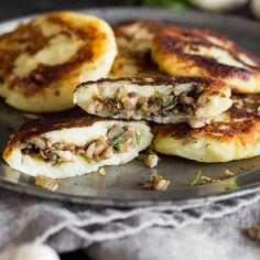 Gefüllte Kartoffelpüree-Taler mit Pilzen