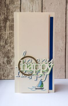 A 'man card' using Dockside and Trio of happy dies Craft Desk, Send A Card, Used Boats, Mama Elephant, Card Making Inspiration, Masculine Cards, Something To Do, Cardmaking, Paper Crafts