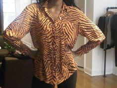 New Vintage Zebra Shirt!!