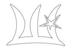 Вытынанки звездные буквы | Вытынанка