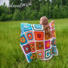 Kalevala - free crochet blanket CAL by Multiple Finnish designers in various languages and colourways commencing 26th August at Arteeni.