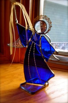 Light the Stars Stained Glass Angel Pick your color by dortdesigns