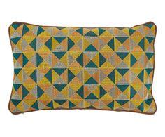 Cojín de algodón Enrica, multicolor - 50x30 cm