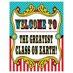 Teacher Created Resources Carnival Welcome Chart (7573)